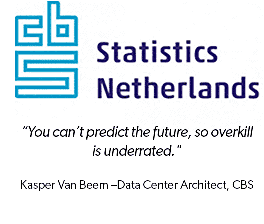 """CBS Statistics Netherlands logo with quote """"You can"""